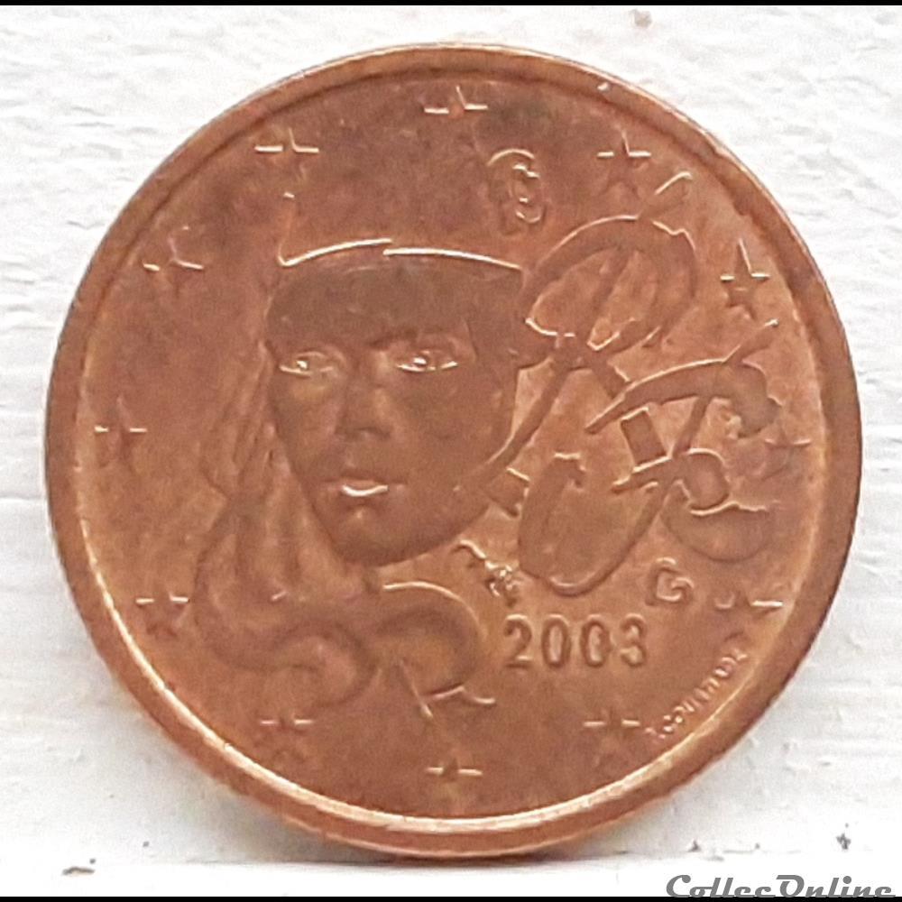 monnaie euro france 2003 1 cent