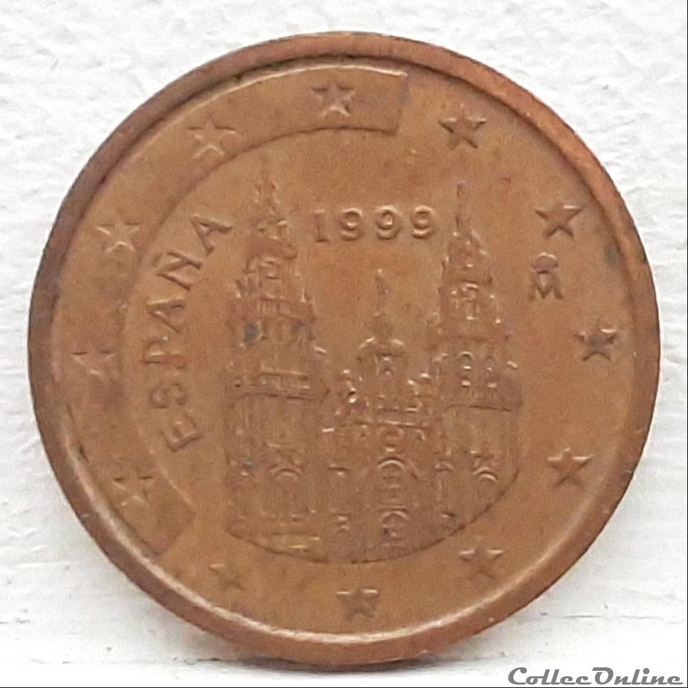 monnaie euro espagne 1999 2 cents