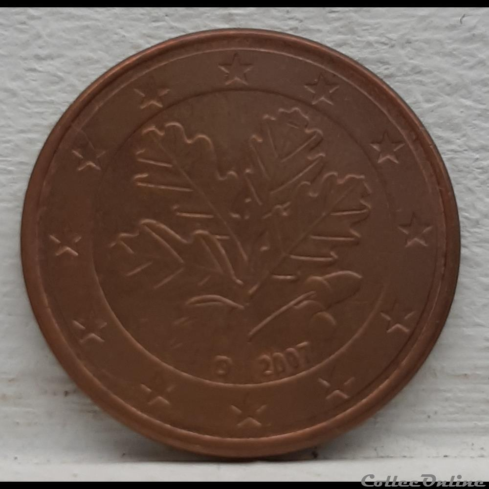 monnaie euro allemagne 2007 d 5 cents