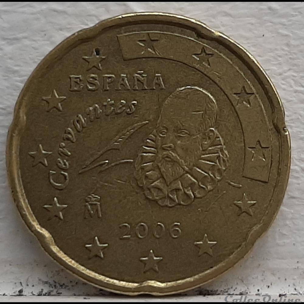 monnaie euro espagne 2006 20 cents