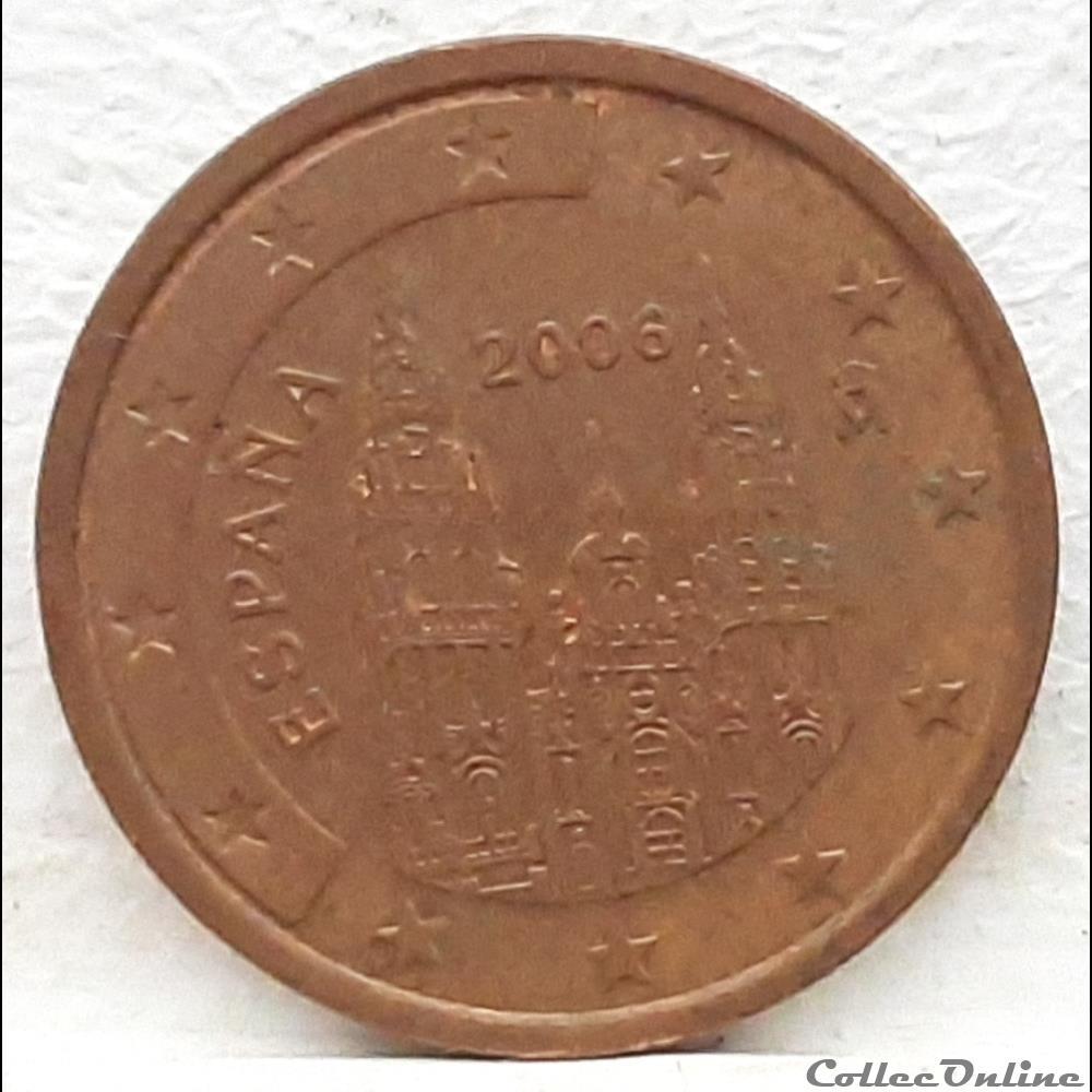 monnaie euro espagne 2006 2 cents
