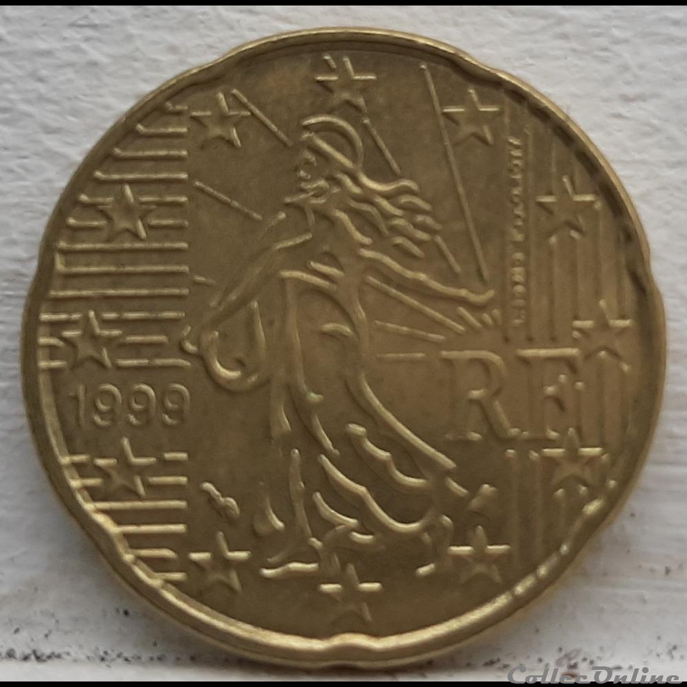 monnaie euro france 1999 20 cents