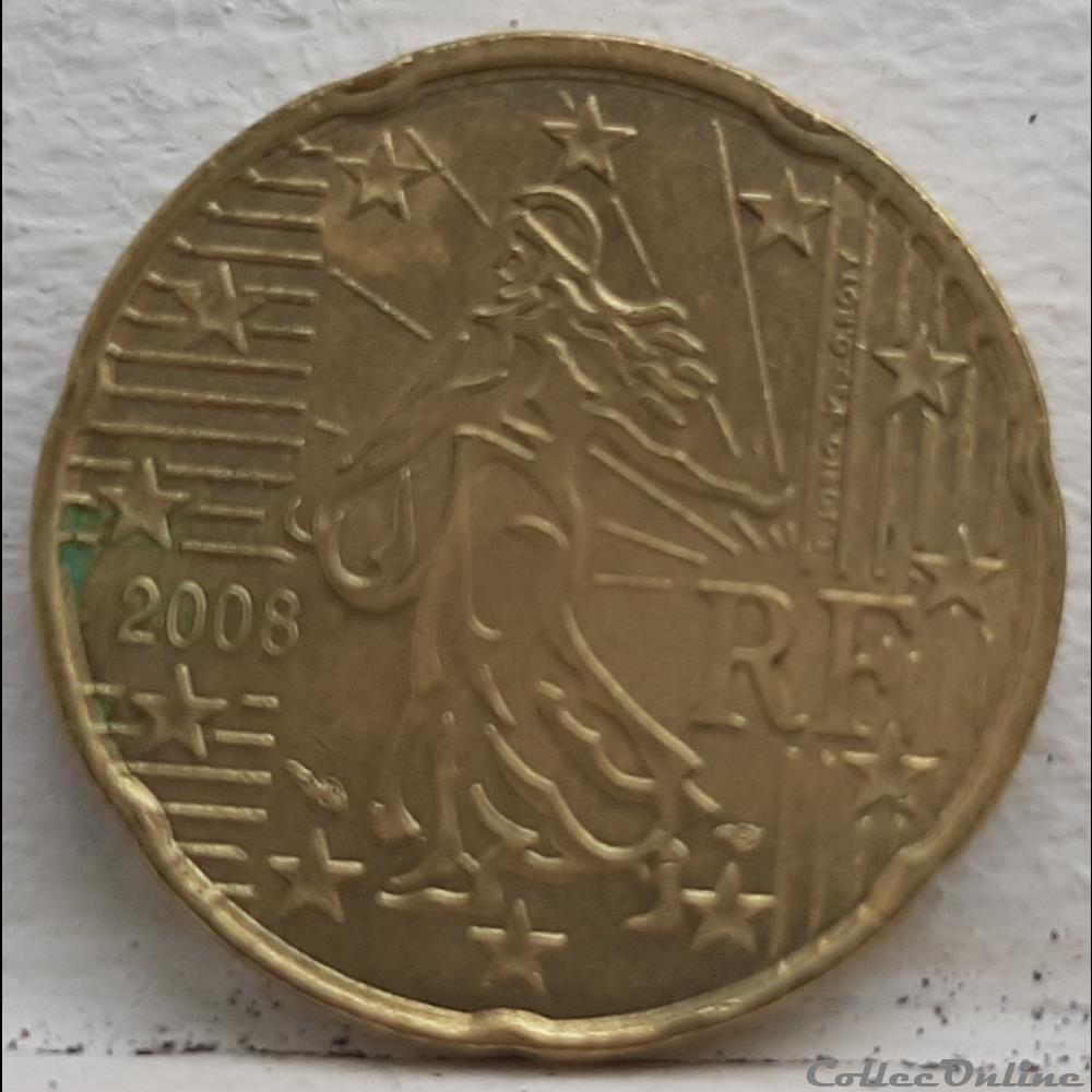 monnaie euro france 2008 20 cents