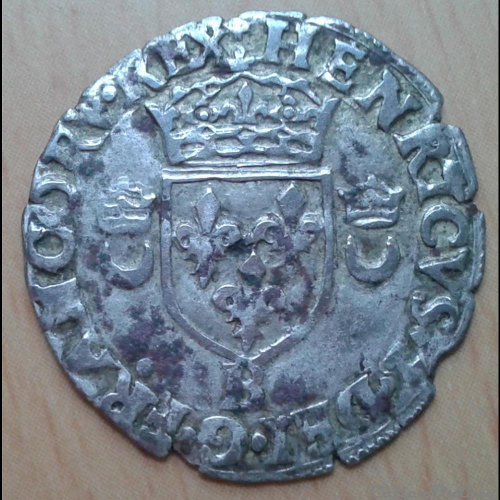 monnaie france romaine henri ii douzain aux croissants 1551