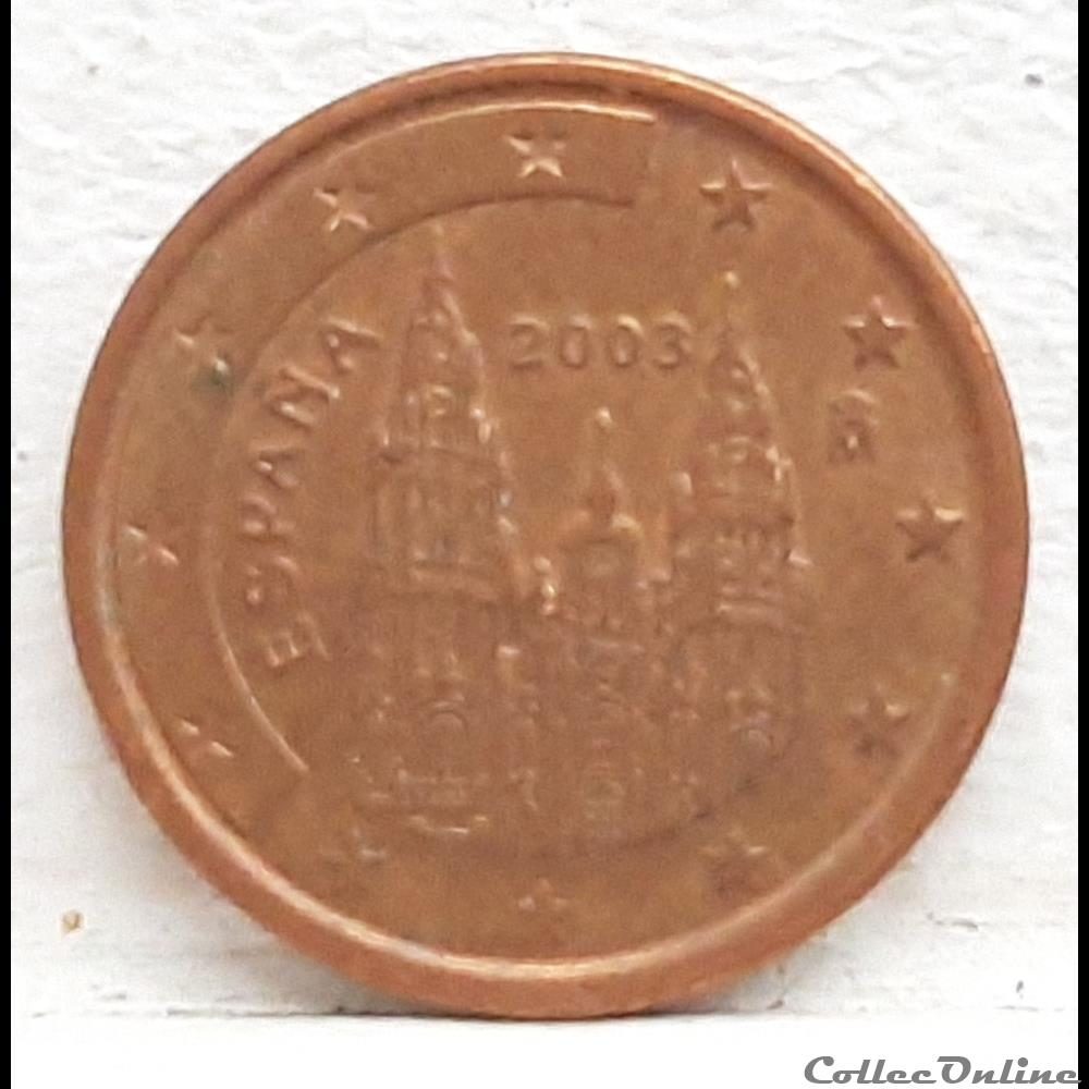monnaie euro espagne 2003 1 cent