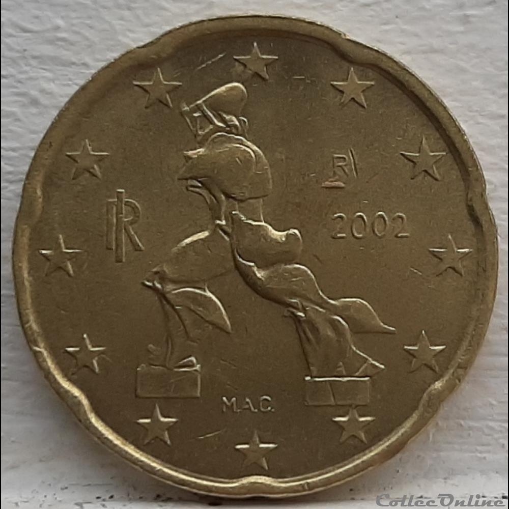 monnaie euro italie 2002 20 cents