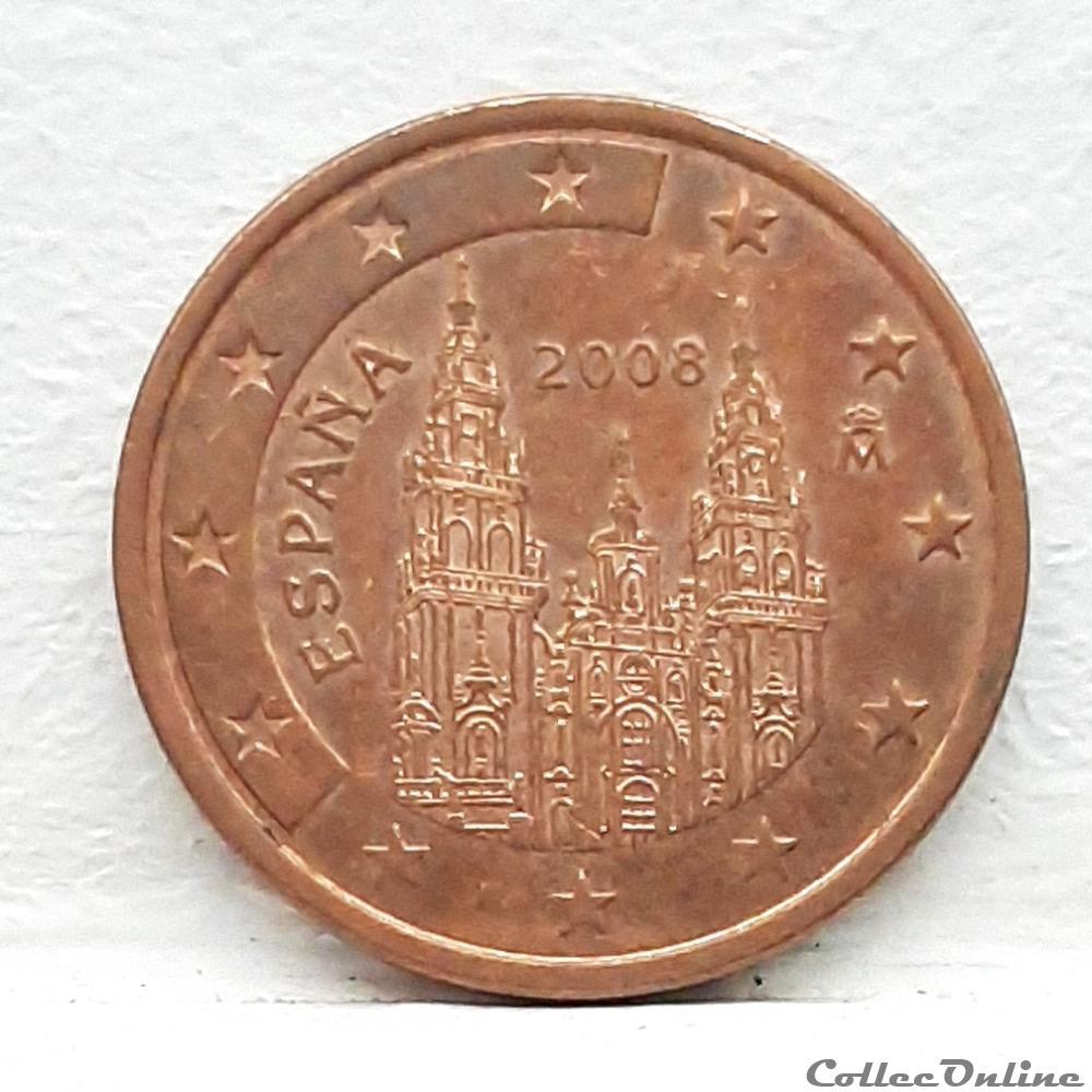 monnaie euro espagne 2008 5 cents