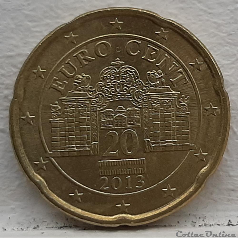 monnaie euro autriche 2013 20 cents