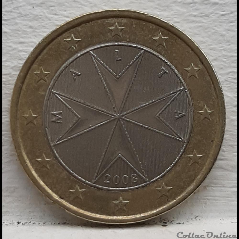 monnaie malte 2008 1 euro