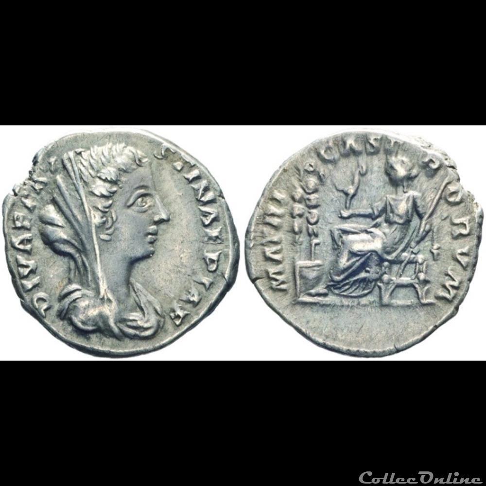 monnaie antique romaine diva favstina ii