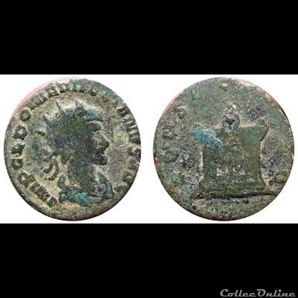monnaie antique romaine aurelian autel reverse
