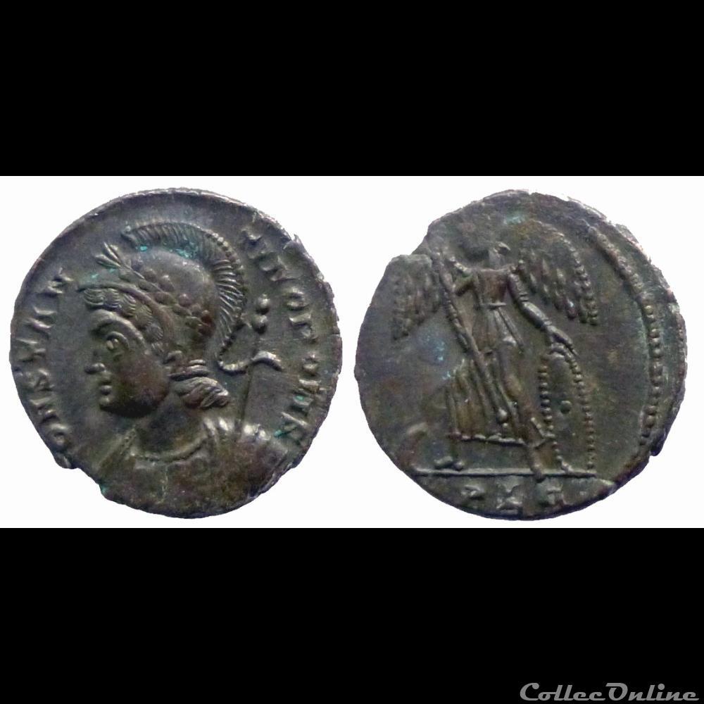 monnaie antique romaine constantinopolis ae follis reduit lyon
