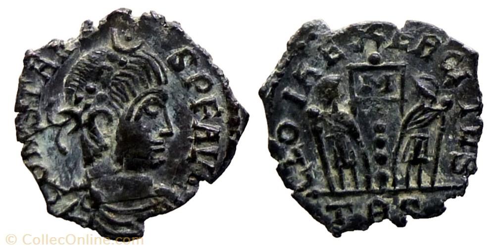 monnaie antique av jc ap romaine constans imitation ae follis reduit trier