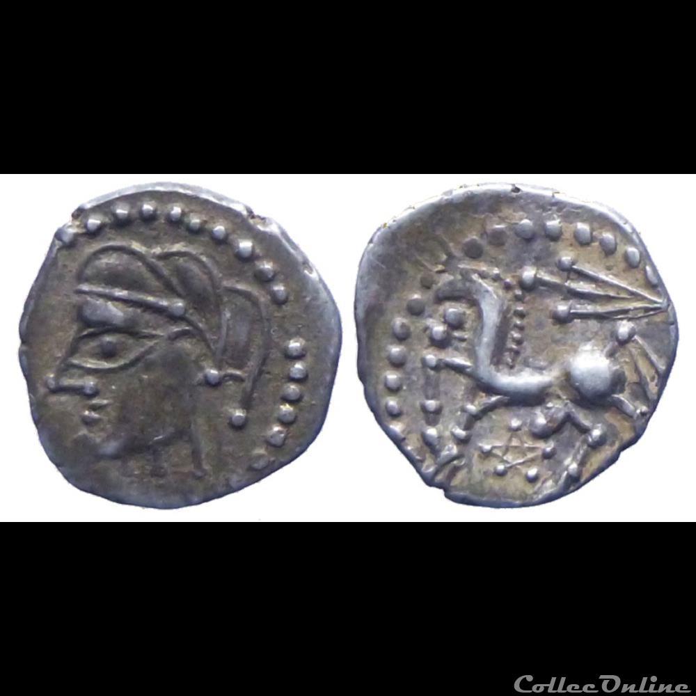 monnaie antique gauloise bituriges cubi denier au glaive et au pentagramme