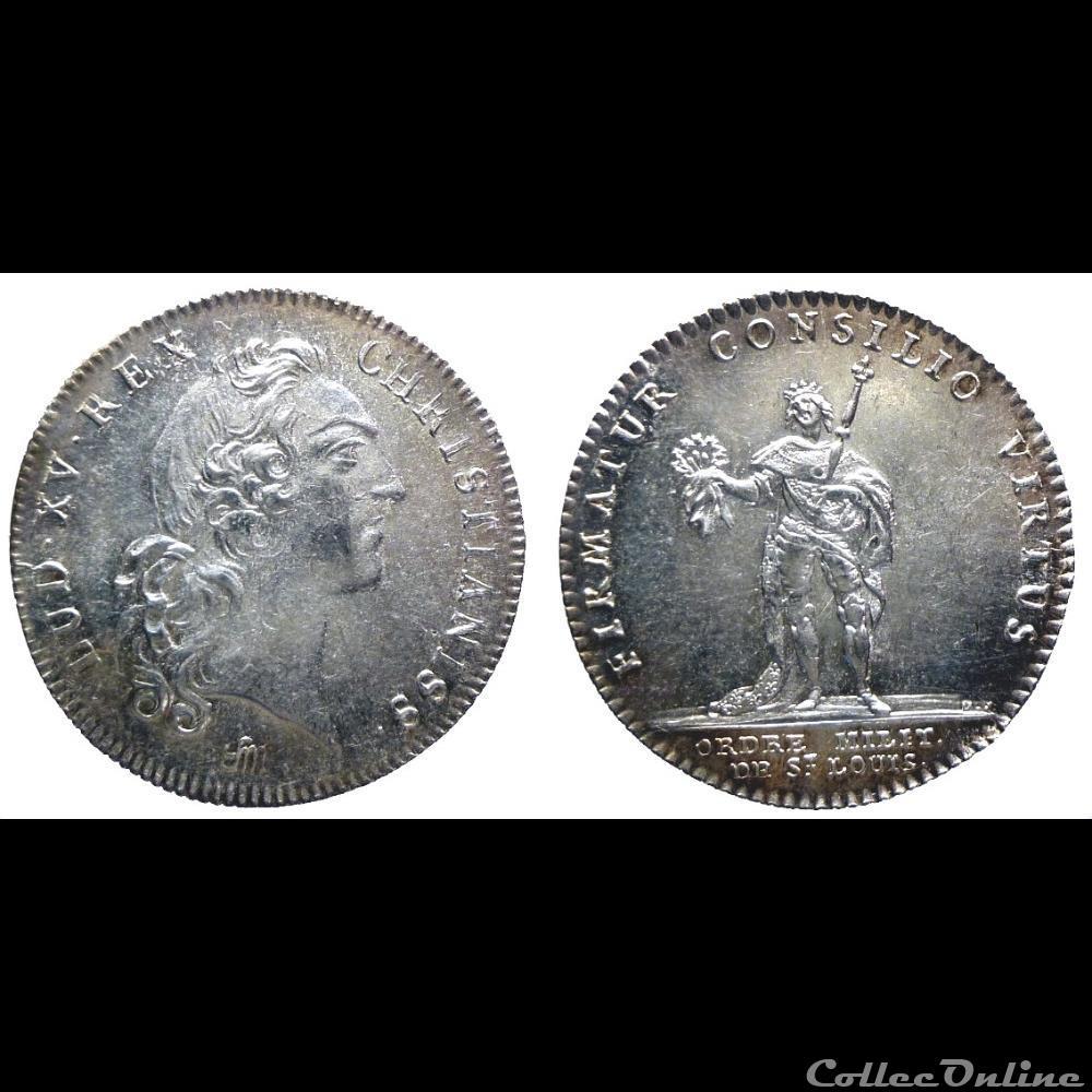 medaille france royaux noblesse louis xv jeton ar ordre militaire de saint louis