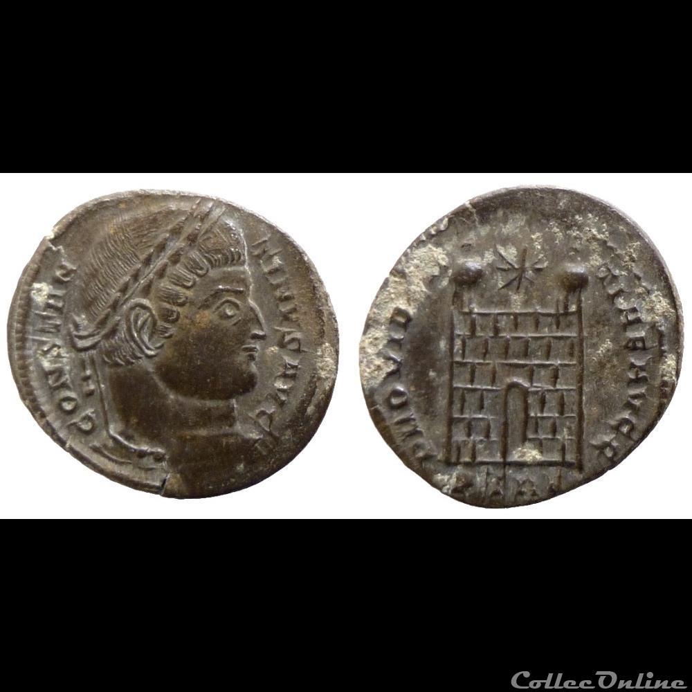 monnaie antique romaine constantin i ae follis reduit providentiae avgg trier ric 504