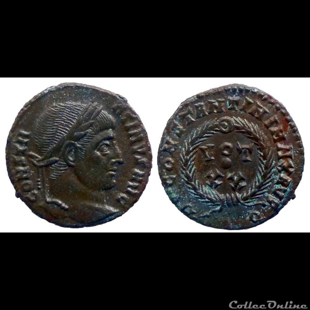 monnaie antique romaine constantinus ae follis reduit vot xx rome