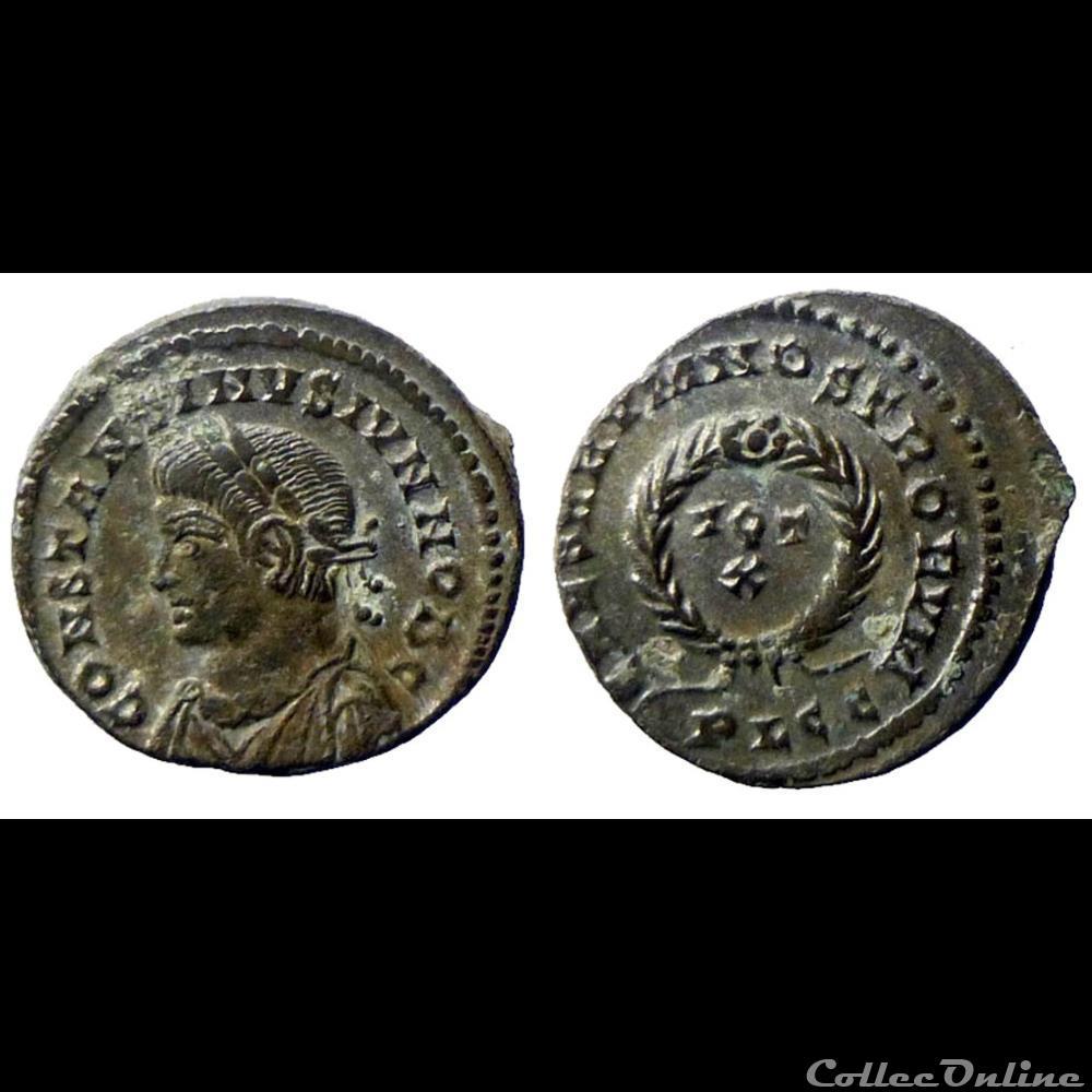 monnaie antique romaine constantin ii cesar ae follis reduit caesarvm nostrorvm lyon