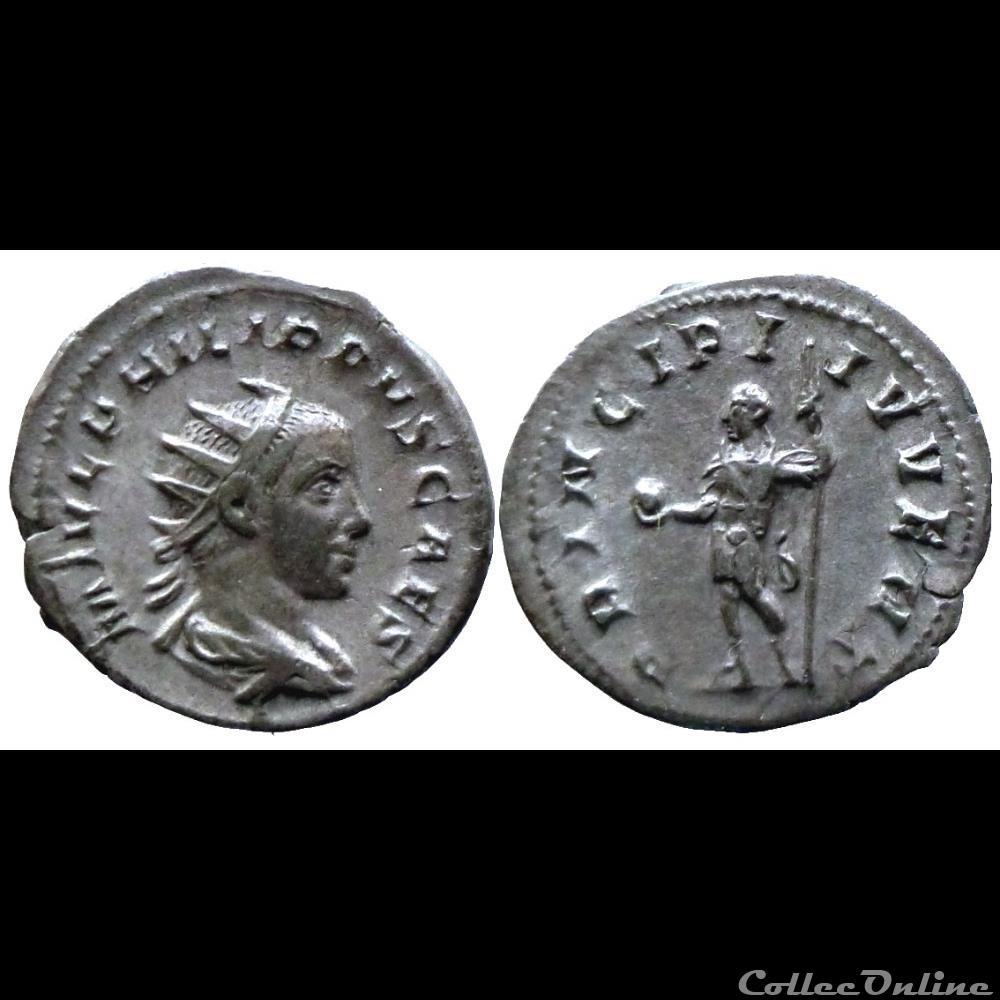 monnaie antique romaine philipp ii caesar antoninien principi ivvent