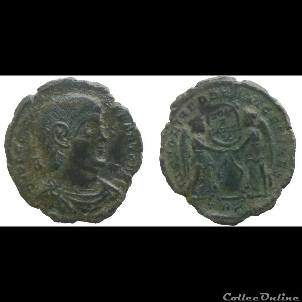 monnaie antique jc ap romaine decentius ae maiorina victoriae dd nn avg et caes trier ric 313