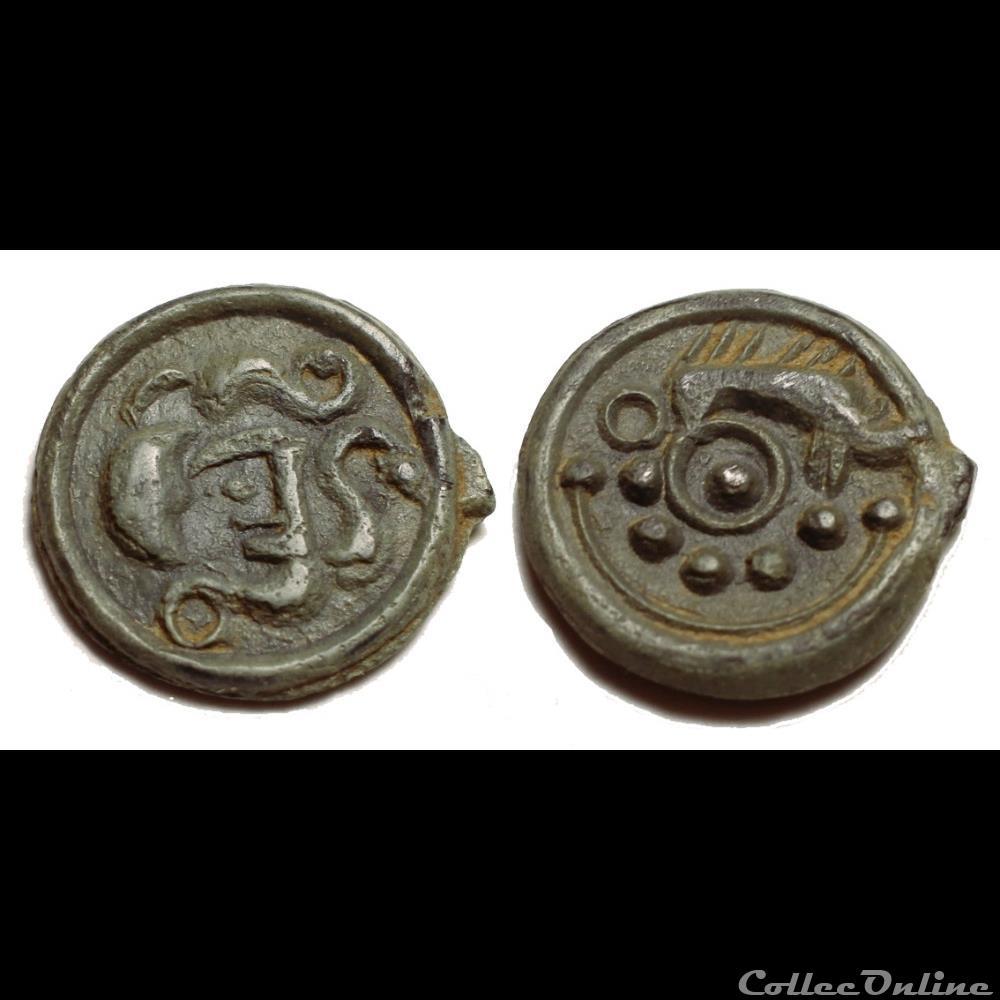 monnaie antique gauloise suessiones potin au sanglier