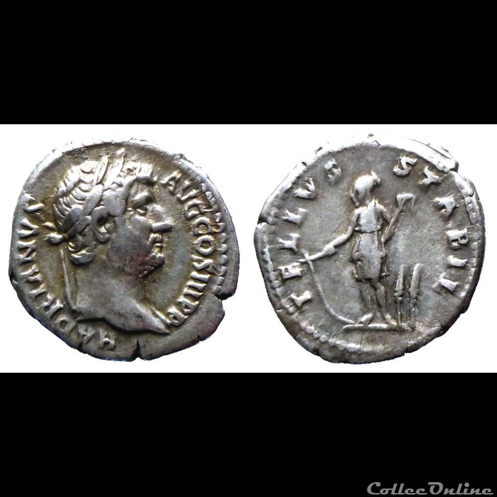 monnaie antique romaine hadrien denier tellvs stabil ric 276