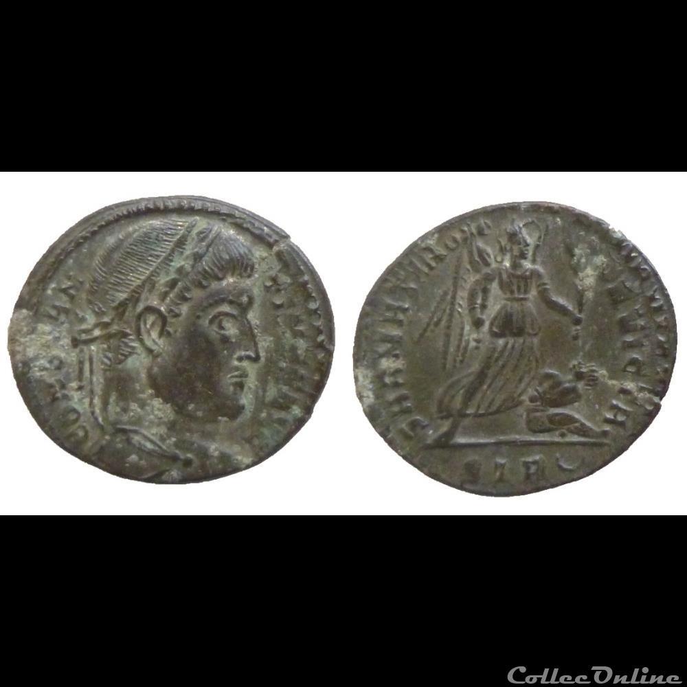 monnaie antique romaine constantin i ae follis reduit sarmatia devicta trier