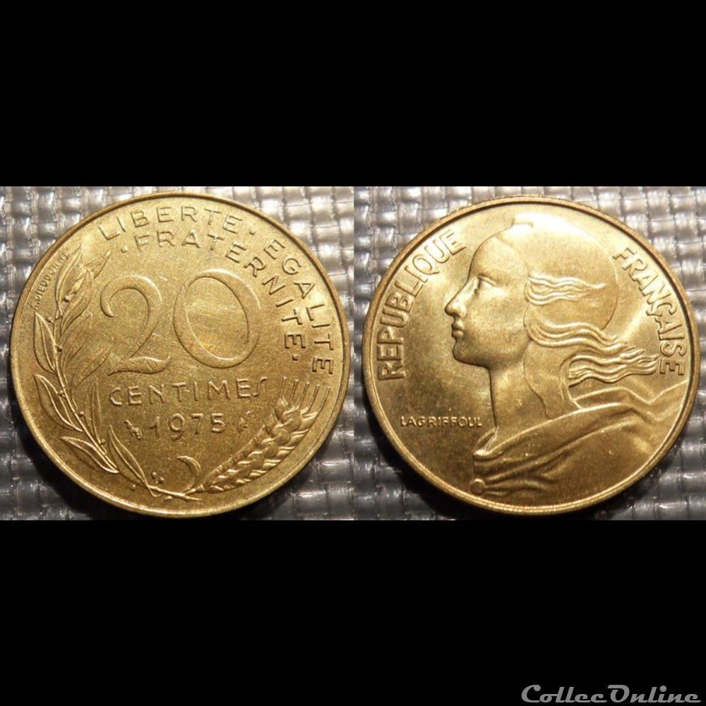 monnaie france moderne ef 20 centimes marianne 1975 23 5mm 4g