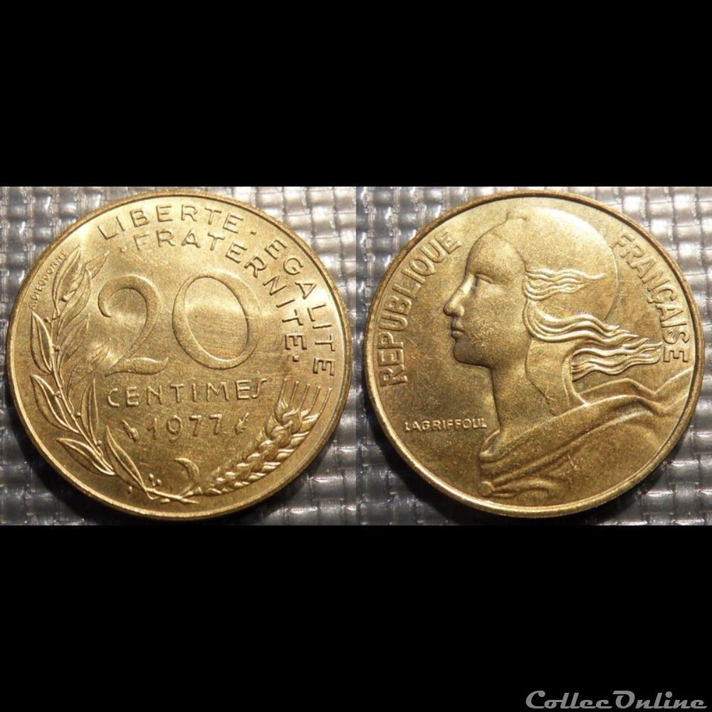 monnaie france moderne ef 20 centimes marianne 1977 23 5mm 4g