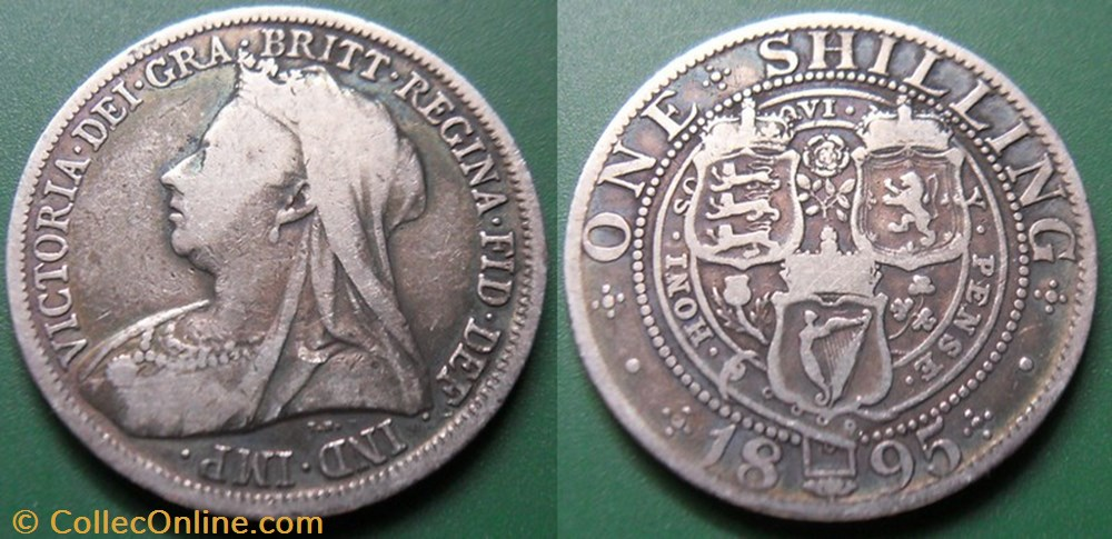 monnaie monde royaume uni grande bretagne 1 shilling 1895