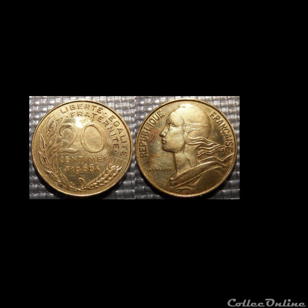 monnaie france moderne ef 20 centimes marianne 1966 23 5mm 4g
