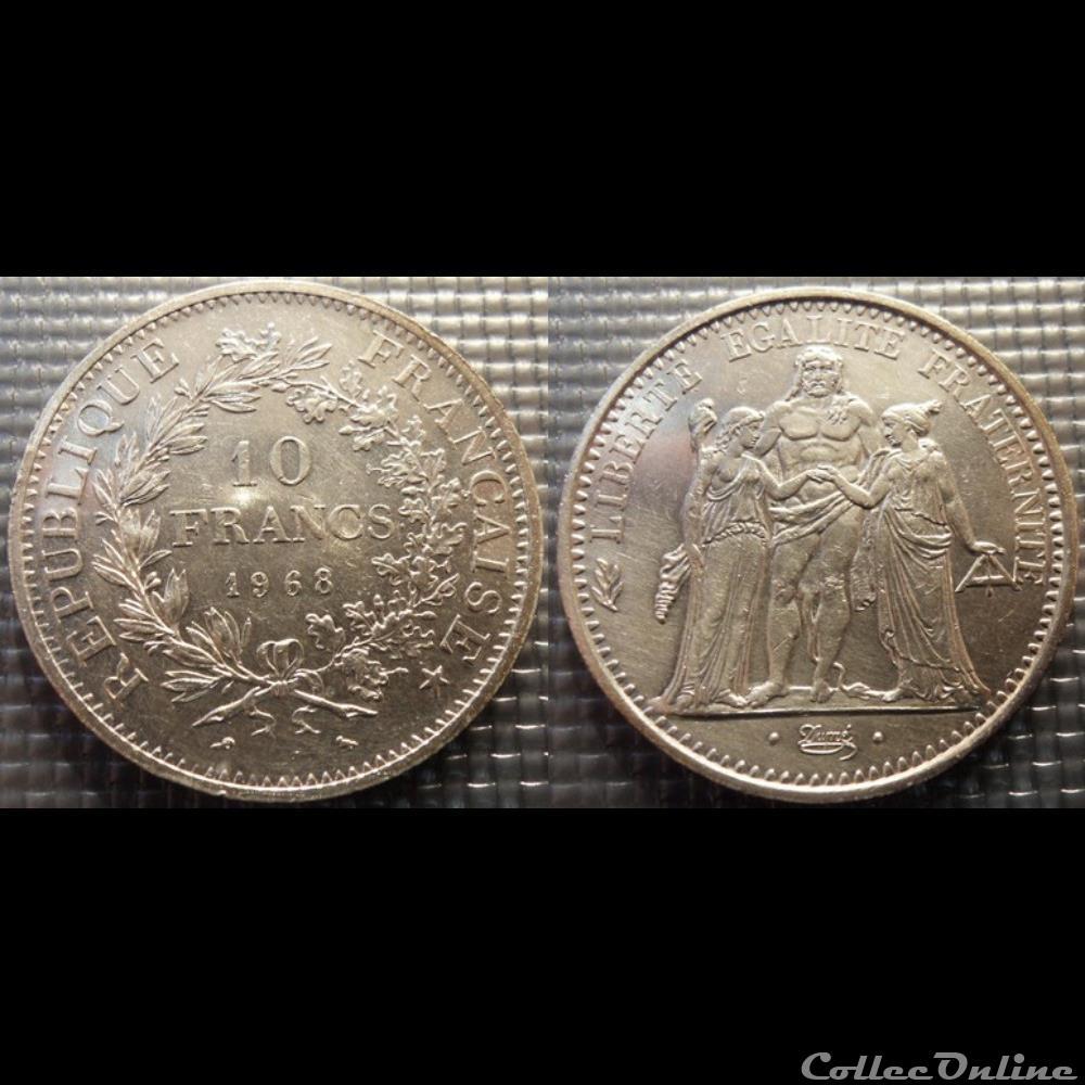 monnaie france moderne lf 10 francs hercule 1968 37mm 25g