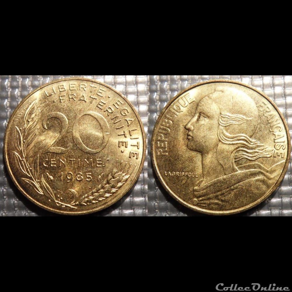 monnaie france moderne ef 20 centimes marianne 1985 23 5mm 4g