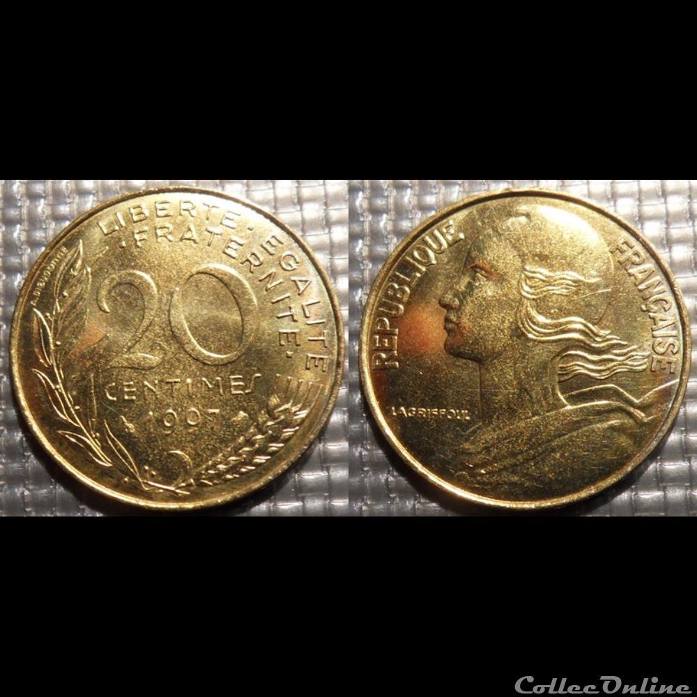 monnaie france moderne ef 20 centimes marianne 1997 23 5mm 4g