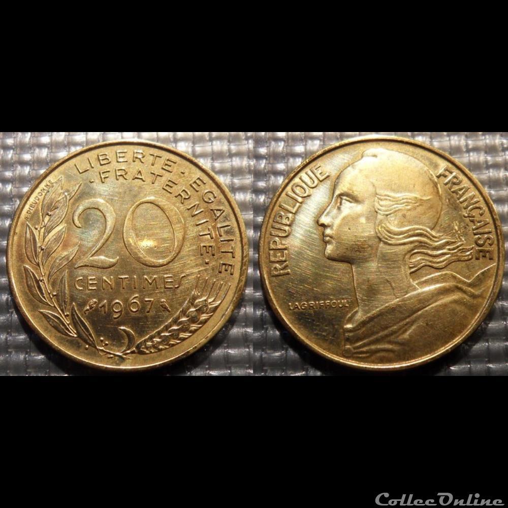 monnaie france moderne ef 20 centimes marianne 1967 23 5mm 4g
