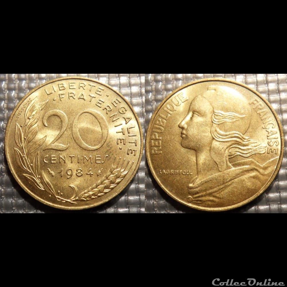 monnaie france moderne ef 20 centimes marianne 1984 23 5mm 4g