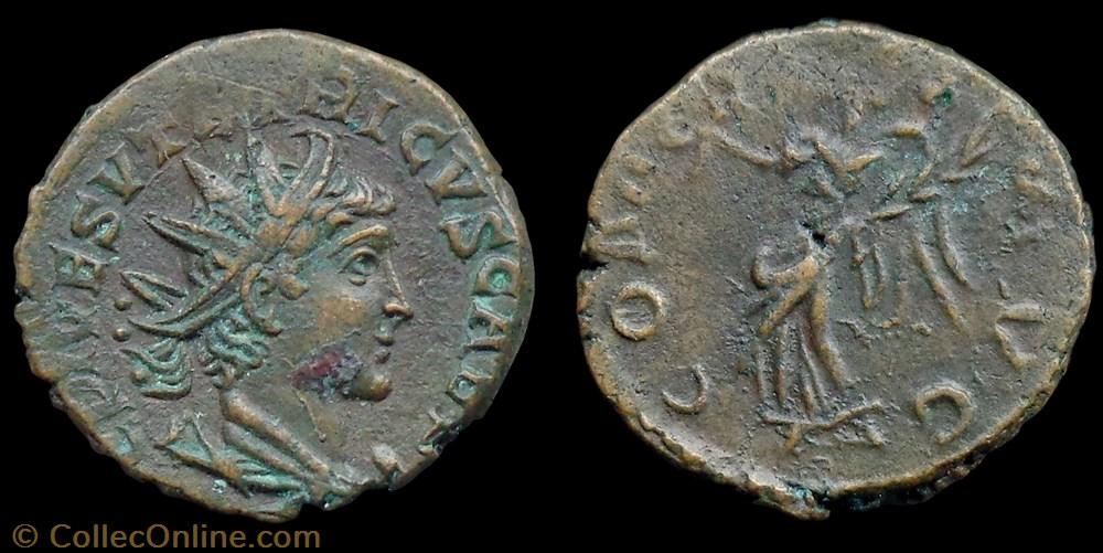monnaie antique jc ap romaine tetricus ii comes avg