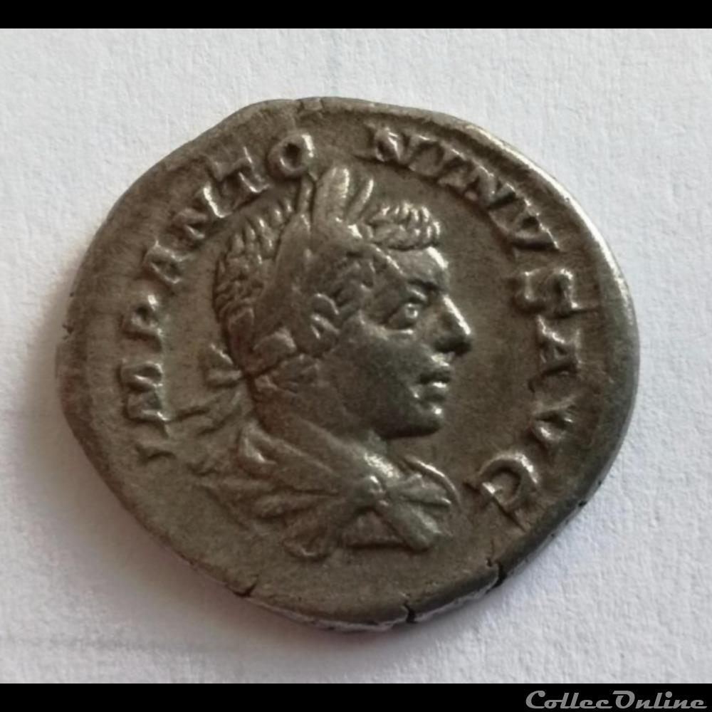 monnaie antique romaine denier elagabale