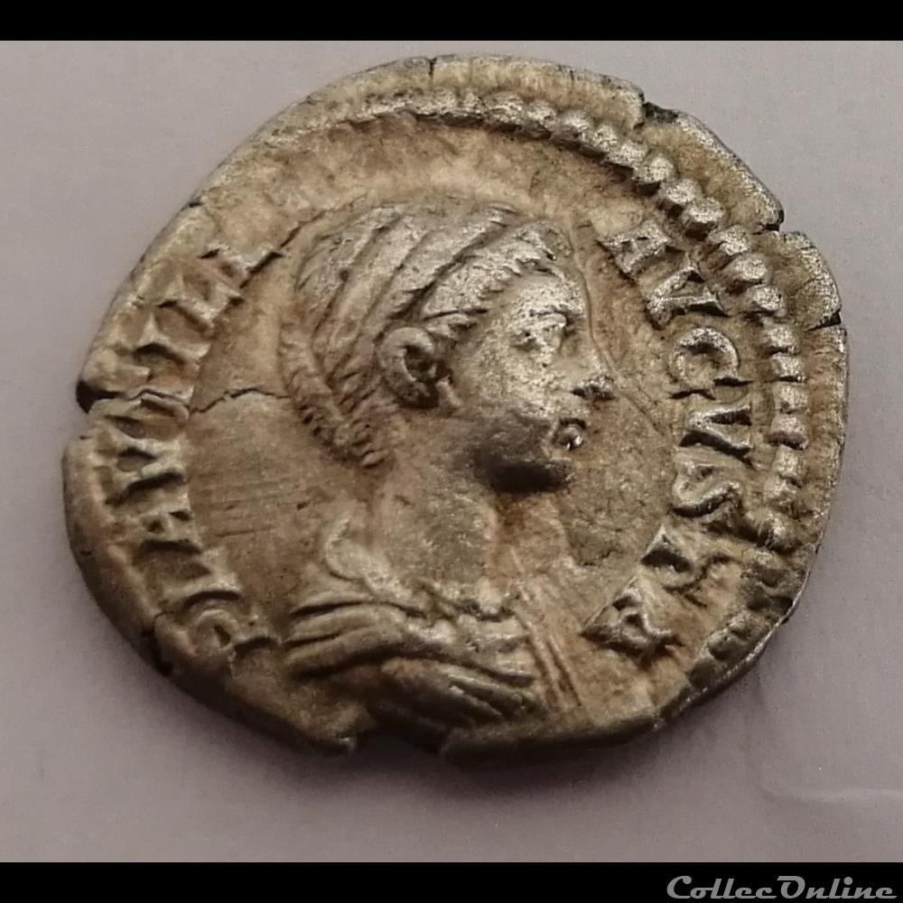 monnaie antique romaine denier plautille