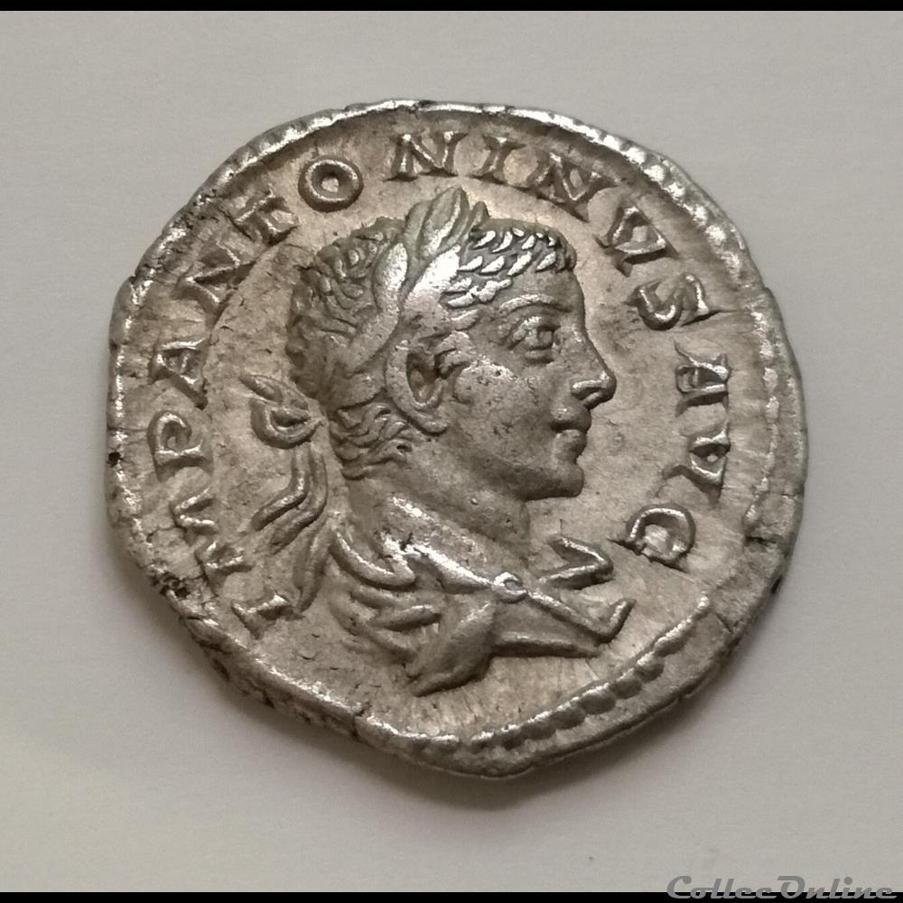 monnaie antique romaine denier elagabal