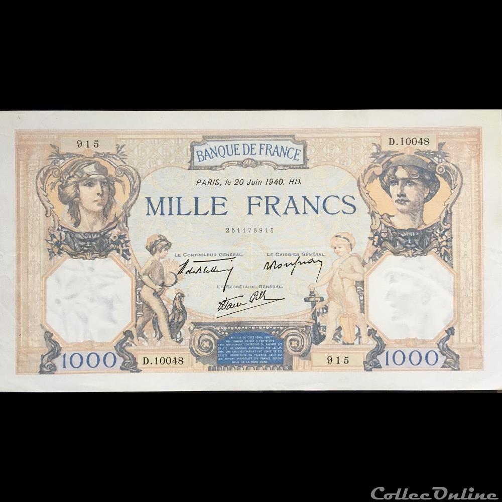billet france banque de xxe f 38 49 20 juin 1940 pr sup