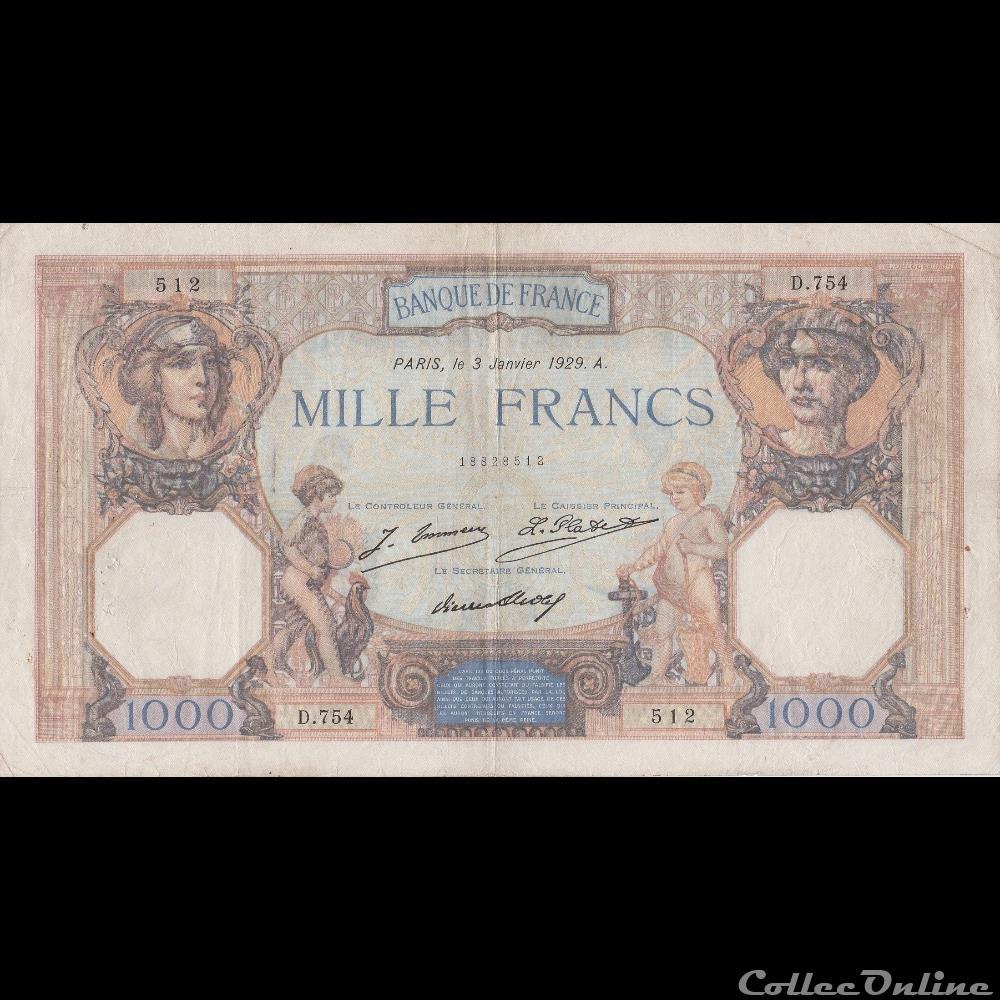 billet france banque de xxe f 37 03 03 01 1929 tb