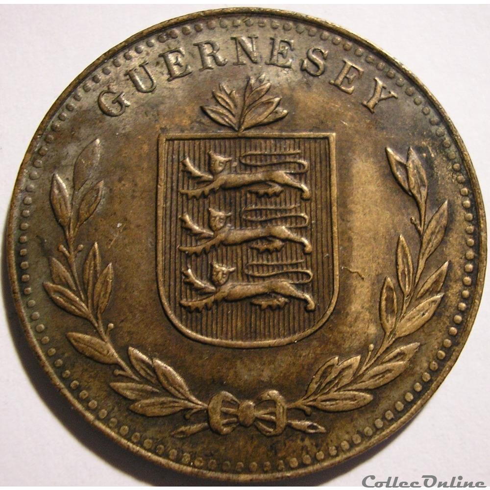 monnaie monde ile de guernesey states of guernsey 8 doubles 1920 h