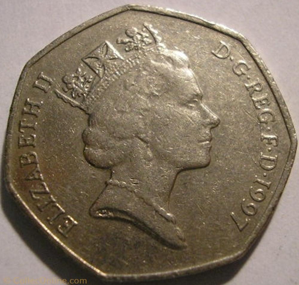 monnaie monde royaume uni elizabeth ii 50 pence 1997 uk