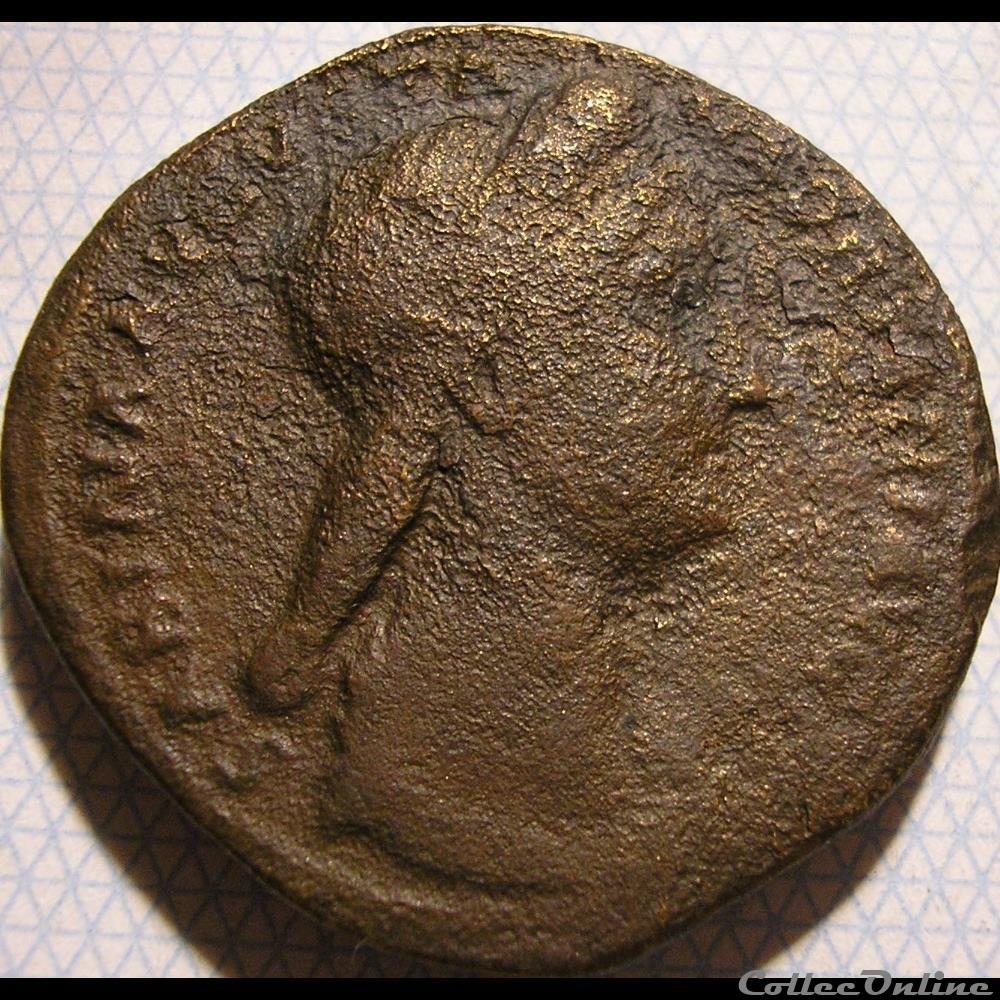 monnaie antique av jc ap romaine vibia sabina sesterce rome ca 136 ad