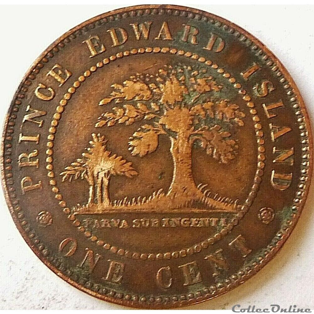 monnaie monde canadum victoria one cent 1871 prince edward island