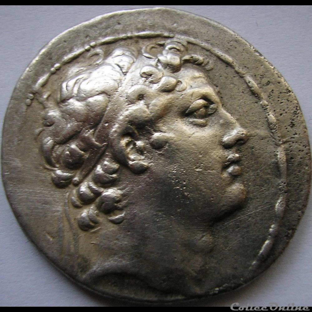 monnaie antique av jc ap grecque antiochos iv epiphanes 175 164 bc tetradrachm