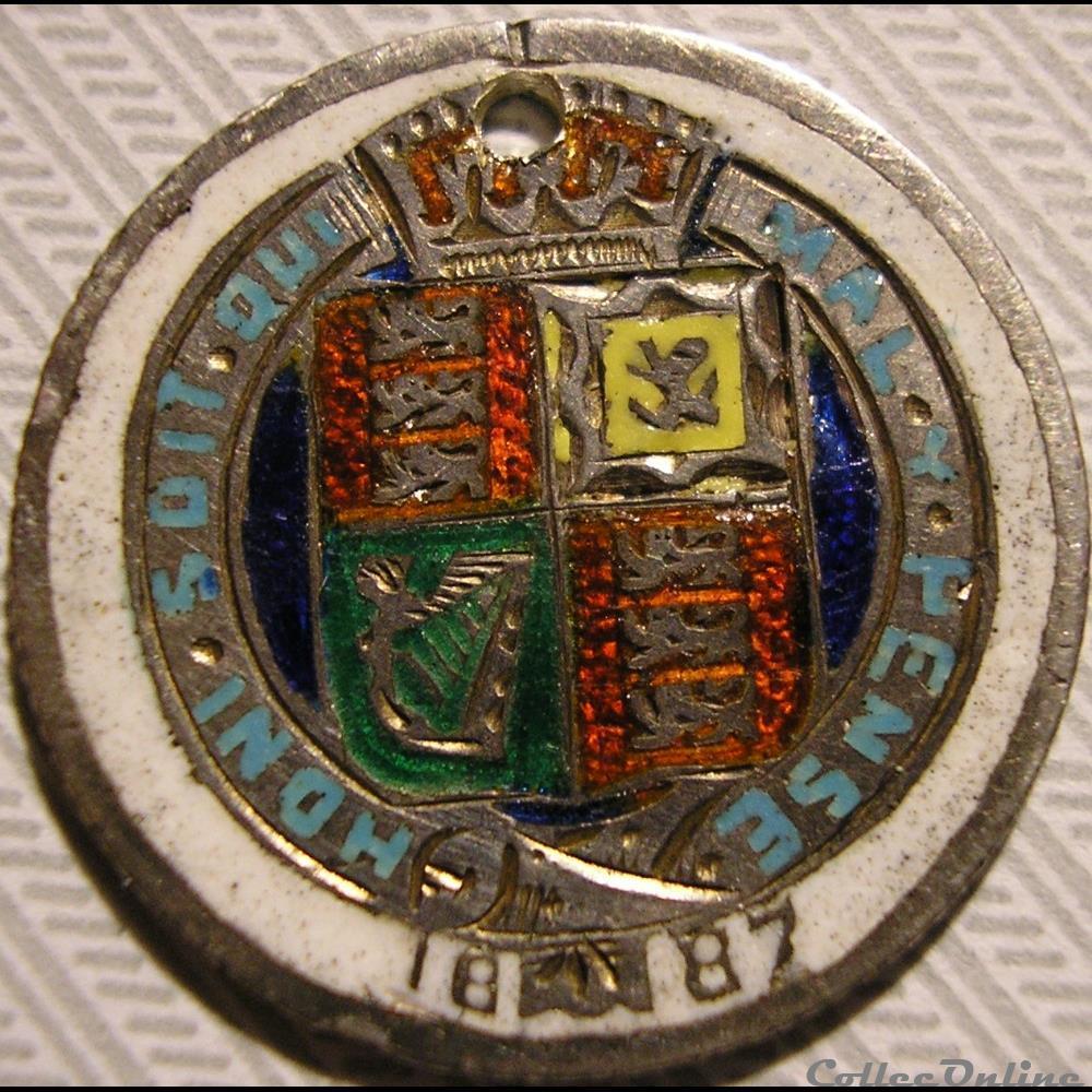 monnaie monde royaume uni victoria sixpence 1887 jubilee kingdom of great britain