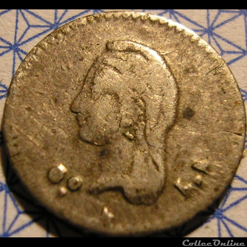 monnaie monde mexique mexico 1 4 real 1849 go 1st republic