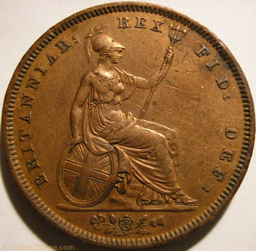 monnaie monde royaume uni william iv penny 1831 kingdom of great britain